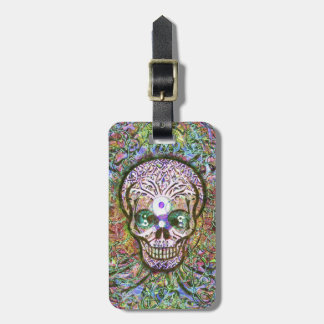Tree of Life, Yin Yang Eyes, Skull Luggage Tag