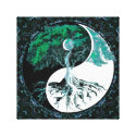 Tree of Life Yin Yang Moonlight Night Canvas Print (<em>$88.50</em>)