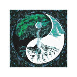 Tree of Life Yin Yang Moonlight Night Canvas Print