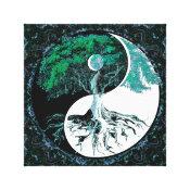 Tree of Life Yin Yang Moonlight Night Canvas Print (<em>$88.50</em>)