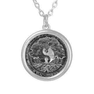 Tree of Life Yin Yang Round Pendant Necklace