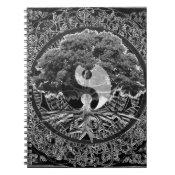 Tree of Life Yin Yang Spiral Notebook (<em>$13.70</em>)