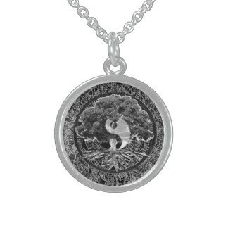 Tree of Life Yin Yang Sterling Silver Necklace