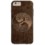 Tree of Life Yin Yang with Wood Grain Effect Tough iPhone 6 Plus Case