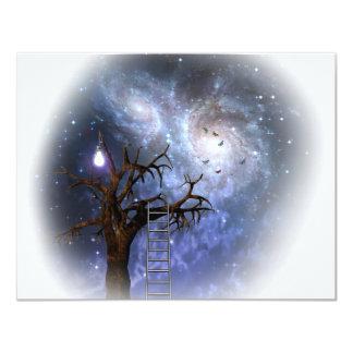 Tree of light 4.25x5.5 paper invitation card