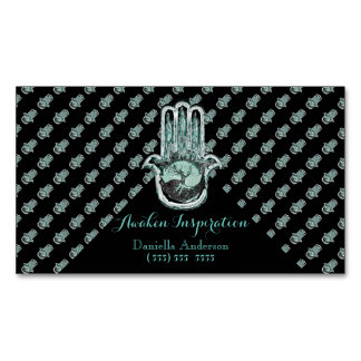 Tree of Light and Dark (Greenish) Magnetic Business Cards (Pack Of 25)