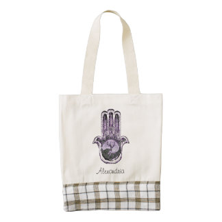 Tree of Light and Dark (Purple) Zazzle HEART Tote Bag