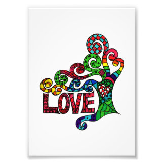 Tree of Love  - colourful hippie art print Photograph
