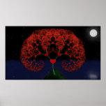 Tree of Love - Heart Fractal (Good Rain) Poster