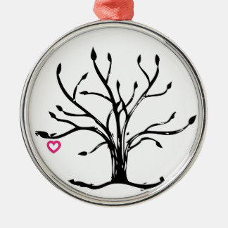 Tree of Love Metal Ornament
