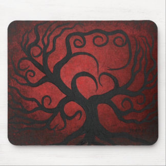 Tree of love mouse pad