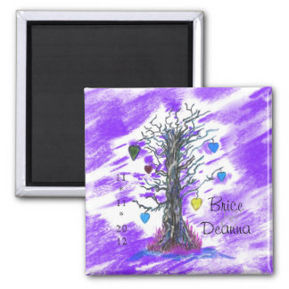 Tree of Love Purple Save The Date Magnet