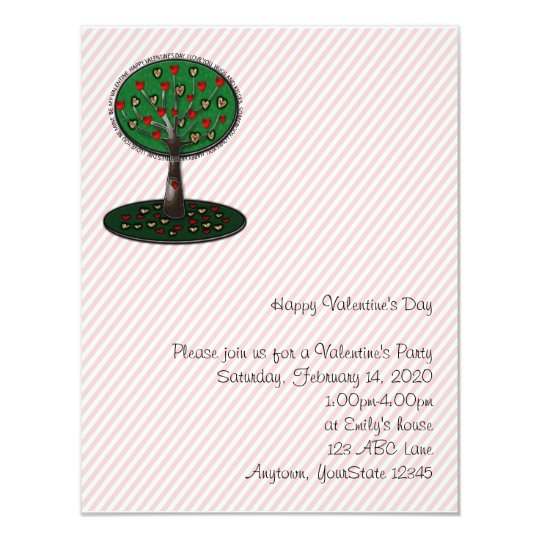 Tree of Love Valentine Party Invitation