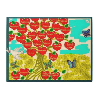 Tree of Love Wood Wall Art