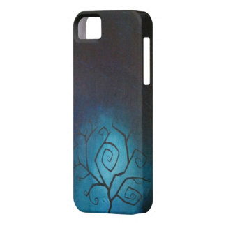 Tree of Nightmares Blue Twilight iPhone 5 Case