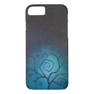 Tree of Nightmares Blue Twilight iPhone 7 case