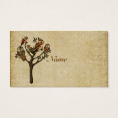 Tree Of  Owls Business Card/tags Business Card at Zazzle