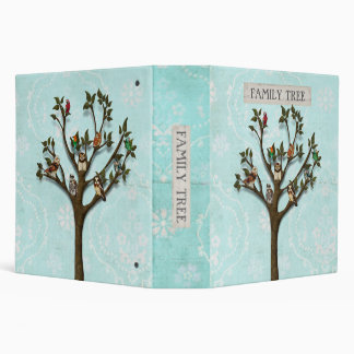 TREE OF OWLS FAMILY TREE Book 3 Ring Binder