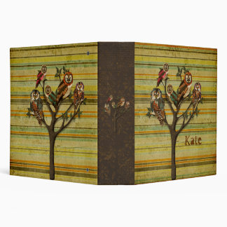 Tree of Owls Retro Personalized Notebook Binder