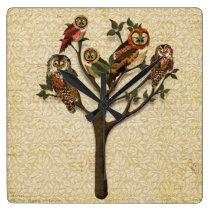 Tree of Owls Wall Clock
