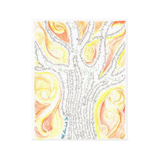 Tree of Perception - abstract painting, word tree Canvas Print