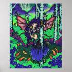 """Tree of Secrets"" Fairy Dragon Fantasy Forest Art Poster"