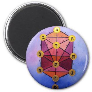 Tree of Sephirot 2 Inch Round Magnet