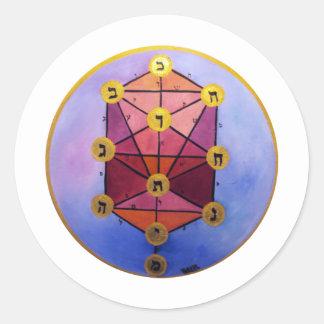 Tree of Sephirot Classic Round Sticker