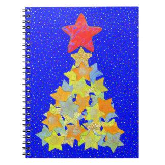Tree of Stars Spiral Notebook