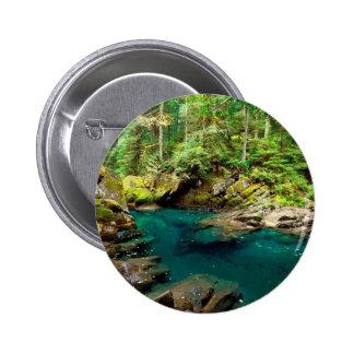 Tree Ohanapecosh River Mt Rainier Pinback Buttons