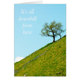 Tree on a Steep Hill Greeting Card