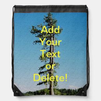 Tree on Canyon Rim Drawstring Bag