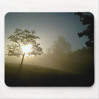 Tree on Fire at Sunrise Mouse Pad