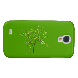 Tree on Green Background Samsung Galaxy S4 Covers