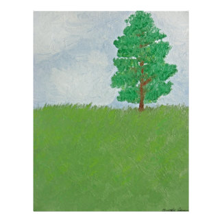 Tree on Hill - First Oil Painting Flyer