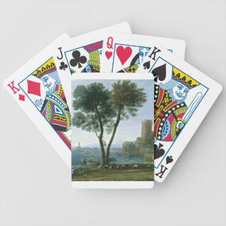 tree on the shore bicycle playing cards