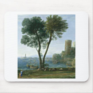 tree on the shore mouse pad