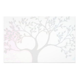 Tree on Vellum over watercolor - Digitized Stationery