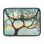 Tree on Vellum with Watercolor Background Sleeve For MacBook Pro