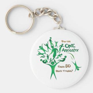 Tree One Ancestor Basic Round Button Keychain