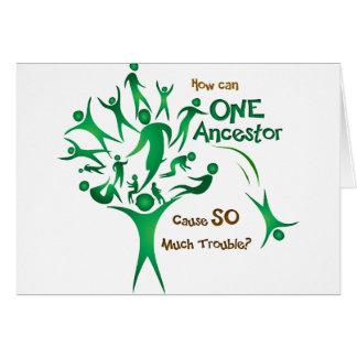 Tree One Ancestor Greeting Card