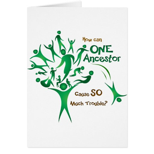 Tree One Ancestor Greeting Cards