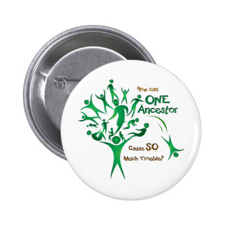 Tree One Ancestor Pinback Button