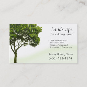 Tree business cards templates zazzle tree or lawn care business card colourmoves