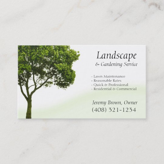 tree or lawn care business card - Lawn Care Business Cards