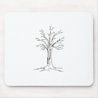 Tree Outline Mouse Pad