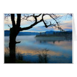 Tree Over the Columbia River Greeting Card