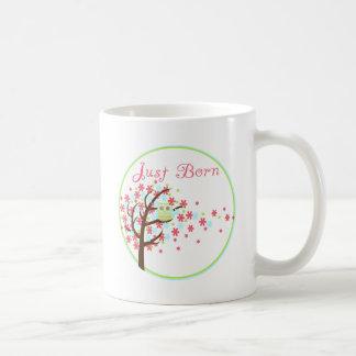 Tree Owl Milestone Just Born Coffee Mug