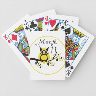 Tree Owl Milestone Month 11 Bicycle Playing Cards