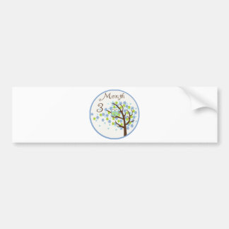 Tree Owl Milestone Month 3 Bumper Sticker